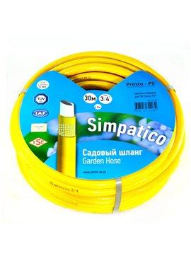Шланг поливочный Presto-PS садовый Simpatico диаметр 3/4 дюйма, длина 30 м (BLL 3/4 30)