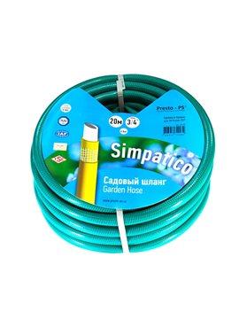 Шланг поливочный Presto-PS садовый Simpatico (синий) диаметр 3/4 дюйма, длина 20 м (BLLS 3/4 20)