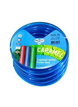 Шланг поливочный Presto-PS силикон садовый Caramel (синий) диаметр 3/4 дюйма, длина 30 м (CAR B-3/4 30)