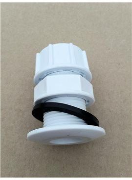 Врезка для емкостей 3/4 резьба наружная длина 40мм ПВХ с пробкой