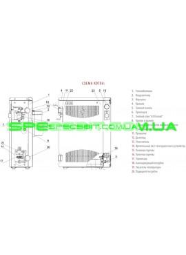 Настенный парапетный газовый котел Aton Compact 16EB
