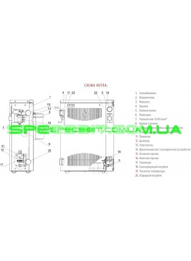 Настенный парапетный газовый котел Aton Compact 10E