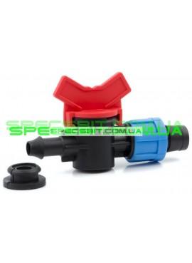 Кран 16 Presto №OV 031708 R (Престо) в пластиковую трубу с уплотнительной резинкой