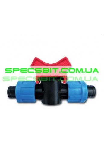 Кран 16 Presto №LV 0117 (Престо) проходной для капельной ленты