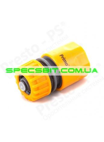 Коннектор Presto (Престо) для шланга 1/2-5/8 + аквастоп №5810