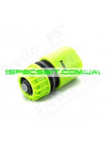 Коннектор Presto (Престо) для шланга 1/2-5/8 + аквастоп №5810 green