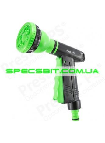 Пистолет поливочный Presto №4442 (Престо) 7 режимов + вкл./выкл. воды