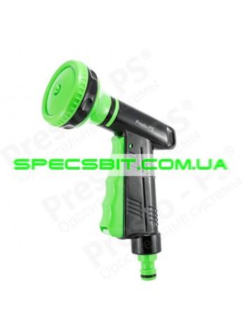 Пистолет поливочный Presto №4443 (Престо) 4 режима + вкл./выкл. воды