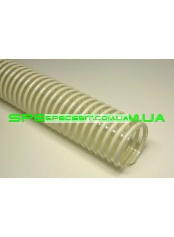 Шланг гофра DLplast Food-L PU (ДЛпласт Фуд-Л ПУ) полиуретановый армированный 2 дюйма 50мм