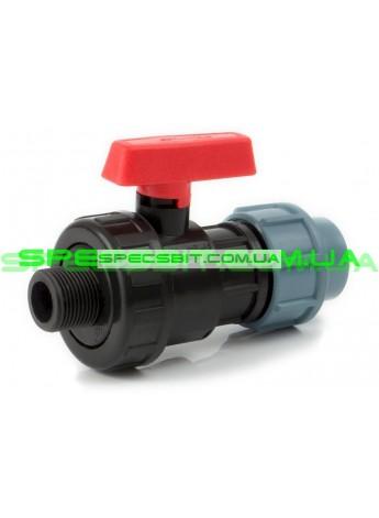 Кран шаровый ЗН 25x3/4 Santehplast (Сантехпласт) компрессионный