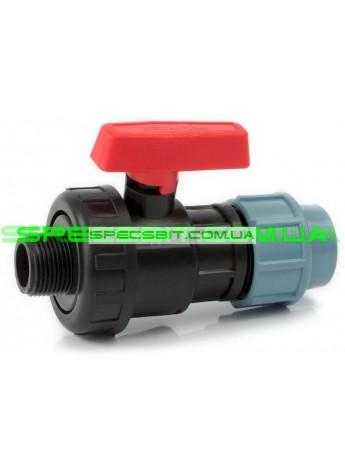 Кран шаровый ЗН 32x1 Santehplast (Сантехпласт) компрессионный