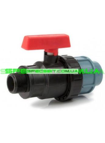Кран шаровый ЗН 63x2 Santehplast (Сантехпласт) компрессионный