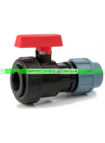 Кран шаровый ЗВ 32x1 Santehplast (Сантехпласт) компрессионный