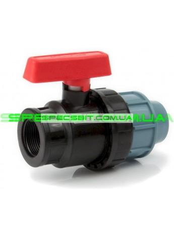 Кран шаровый ЗВ 40x1 1/4 Santehplast (Сантехпласт) компрессионный