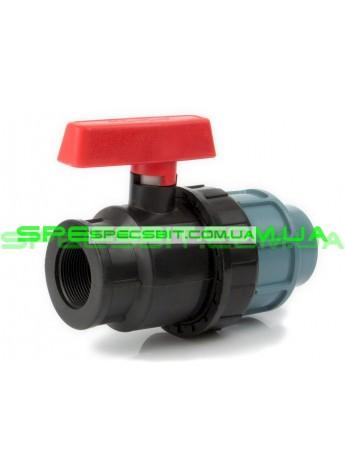 Кран шаровый ЗВ 50x1 1/2 Santehplast (Сантехпласт) компрессионный