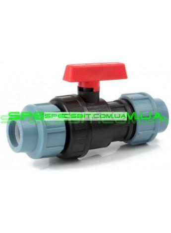 Кран шаровый ЗЗ 25 Santehplast (Сантехпласт) компрессионный
