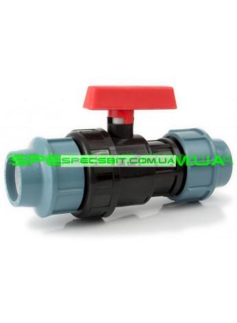 Кран шаровый ЗЗ 50 Santehplast (Сантехпласт) компрессионный
