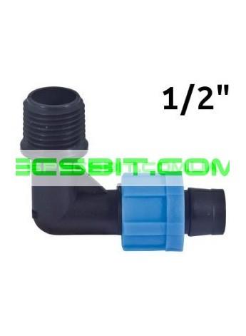 Угол для ленты с наружной резьбой 1/2 Santehplast (Сантехпласт)