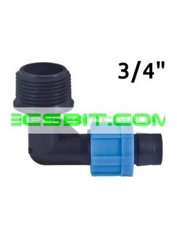 Угол для ленты с наружной резьбой 3/4 Santehplast (Сантехпласт)