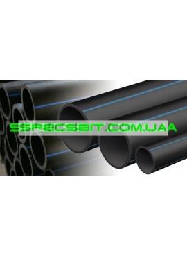 Труба ПЭ 20 6 атм. Evci Plastik магистральная черная с синей полосой