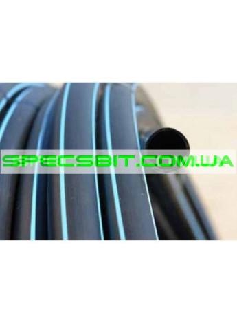 Труба ПЭ 32 10 атм. Evci Plastik магистральная черная с синей полосой