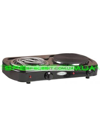 Электроплитка двухконфорочная Лемира ЭПТ2Ч-Т 2-2,5кВт/220В чугунная конфорка спиральный ТЭН