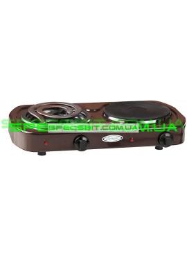 Электроплитка двухконфорочная Лемира ЭПТЧ-Т 2-2,5кВт/220В чугунная конфорка широкий спиральный ТЭН