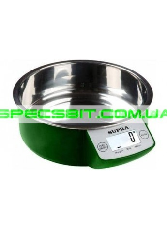 Весы кухонные SUPRA (Супра) BSS 4090 green
