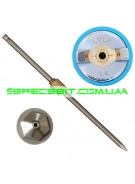 Комплект форсунок LVLP 1,4 мм ПРОФ Intertool (Интертул) PT-2014