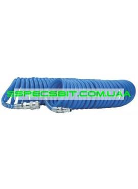 Шланг спиральный полиуретановый 8x12мм 10м Intertool (Интертул) PT-1716