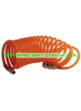 Шланг спиральный с быстроразъемным соединением 5 м Intertool (Интертул) PT-1703