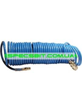 Шланг спиральный полиуретановый 5,5x8мм, 15м Intertool (Интертул) PT-1708