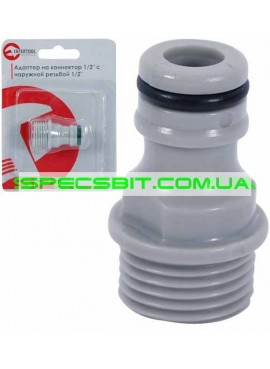 Адаптер на конектор 1/2 с нар. резьбой 1/2 Intertool (Интертул) GE-1001