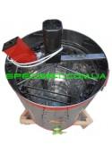 Медогонка на 3 + 12 рамок нержавеющая хордиально-радиальная, электропривод