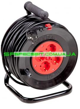 Удлинитель на катушке Лемира У16-01 2х1.5 50м с теплозащитой