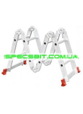 Лестница алюминиевая трансформер 2,5 м Intertool (Интертул) LT-0028