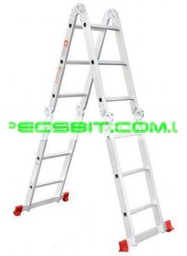 Лестница алюминиевая трансформер 3,7 м Intertool (Интертул) LT-0030