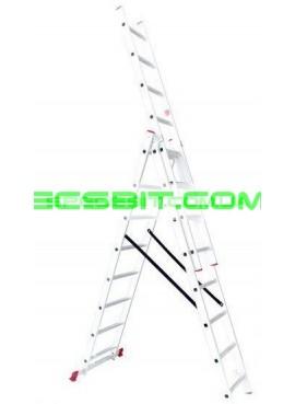 Лестница раскладная 3 секции 5,09 м Intertool (Интертул) LT-0308