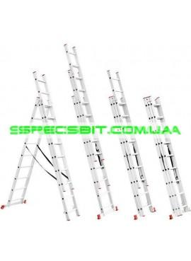 Лестница раскладная 3 секции 5,93 м Intertool (Интертул) LT-0309