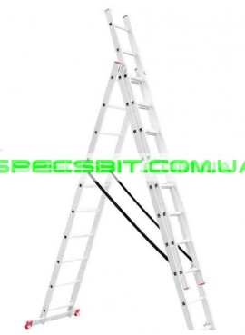 Лестница раскладная 3 секции 6,77 м Intertool (Интертул) LT-0310