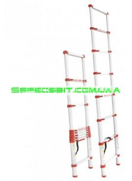 Лестница телескопическая 2,6 м Intertool (Интертул) LT-3026