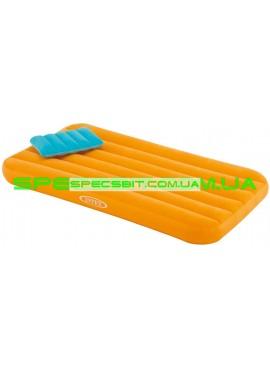 Матрас надувной с подушкой Cozy&Fun Intex (Интекс) 66801 157*88см оранжевый
