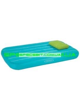 Матрас надувной с подушкой Cozy&Fun Intex (Интекс) 66801 157*88см голубой