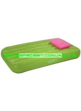 Матрас надувной с подушкой Cozy&Fun Intex (Интекс) 66801 157*88см зеленый