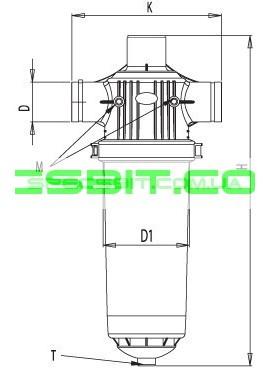 Мини пластиковый фильтр Aytok (Айток) PSC 3
