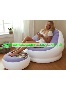Надувное кресло Cafe Chaise Chair Intex (Интекс) 68572 104-109-71см, фиолетовое