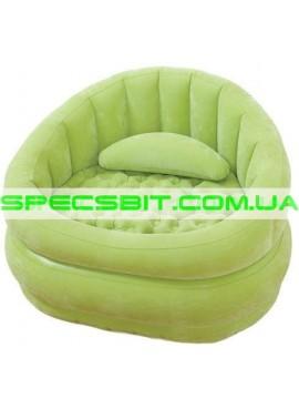 Надувное кресло Cafe Chair Intex (Интекс) 68563 91-102-65см, зеленое