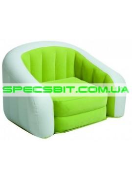Надувное кресло Cafe Club Chair Intex (Интекс) 68571 97-76-69см, зеленое