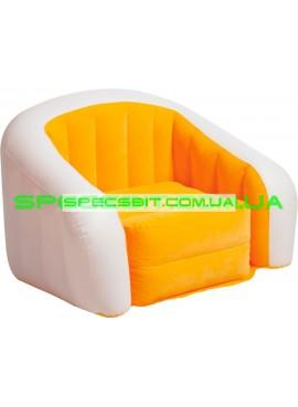 Надувное кресло Cafe Club Chair Intex (Интекс) 68571 97-76-69см, оранжевое