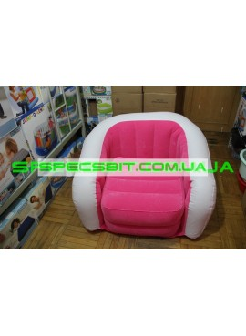 Надувное кресло Cafe Club Chair Intex (Интекс) 68571 97-76-69см, розовое